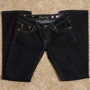 Miss Me Jeans.  Embellished JE5730BL Boot Cut.